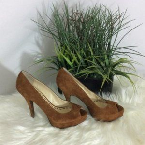 Enzo Angiolini Leather and Suede Heels